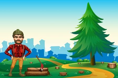 hilltop: Illustration of a man at the hilltop