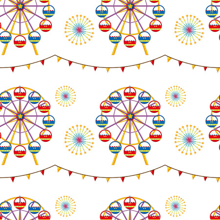 flaglets: Illustration of a seamless design with a carnival