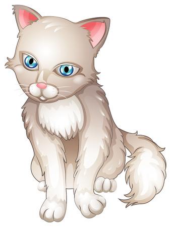 housepet: Illustration of a sad cat on a white background