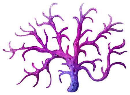 Illustratie van een stemy koraalrif op een witte achtergrond