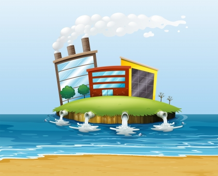 Illustration of a polluted environment Vector