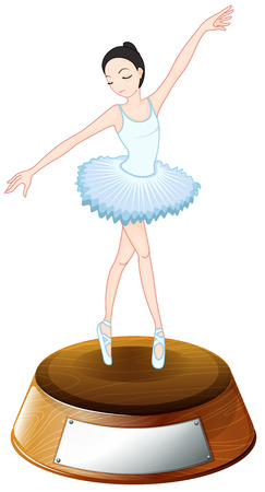 petticoat: Illustration of a ballerina trophy on a white background