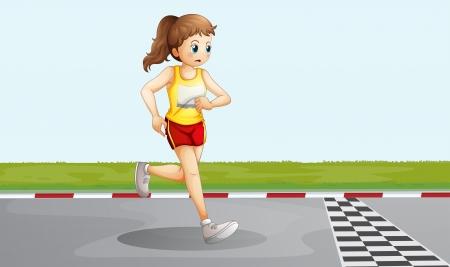 delegate: Illustration of a female racer