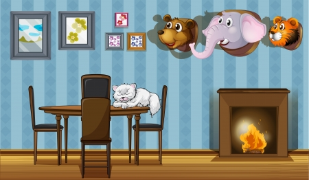 housepet: Illustration of the different wall decorations