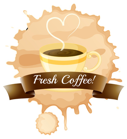Illustration of the fresh coffee on a white background Vector