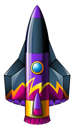 invent things: Illustration of a colorful rocket on a white background Illustration