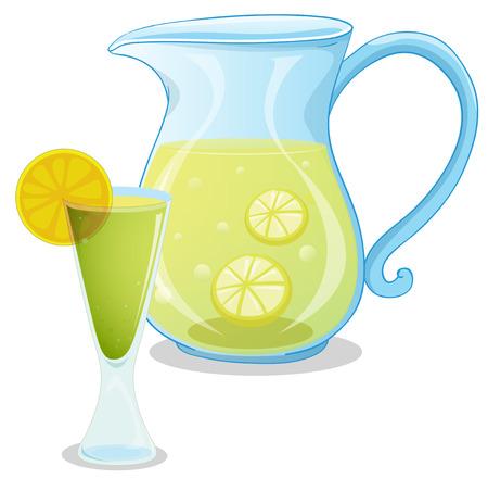 lemonade: Illustration of a pitcher of lemonade on a white background Illustration