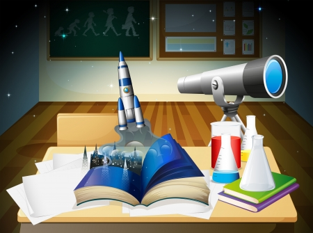 Illustration of a laboratory Vector