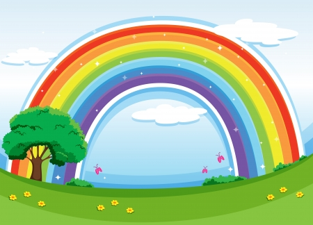 Illustration of a rainbow in the sky Stock Vector - 25532011