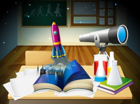 Illustration of a science laboratory Vector