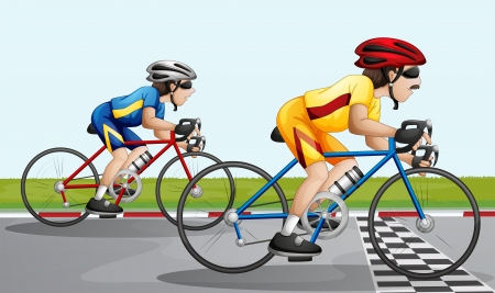 Illustration of a biking race Vector