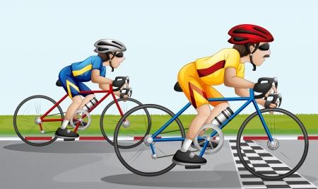 Illustration of a biking race Stock Vector - 25532510