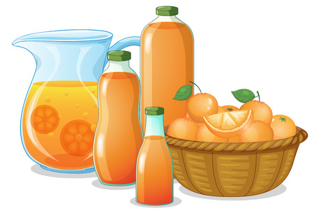 Illustration of the juice drink on a white background Vector