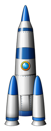 computerized: Illustration of a rocket on a white background Illustration