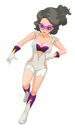 sexy army: Illustration of a pretty hero on a white background