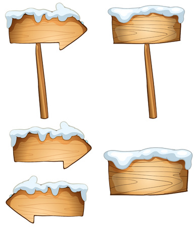 melting point: Illustration of the empty signboards on a white background