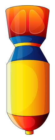 Illustration of a colorful bomb on a white background Vector