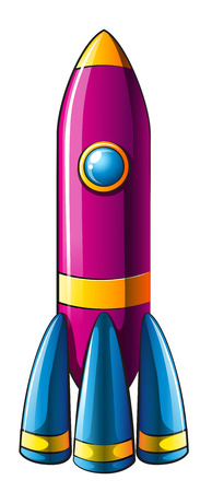 destructive: Illustration of a colorful rocket on a white background Illustration