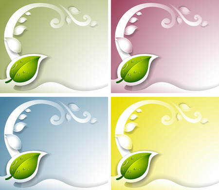 beautification: Illustration of the four leaf background