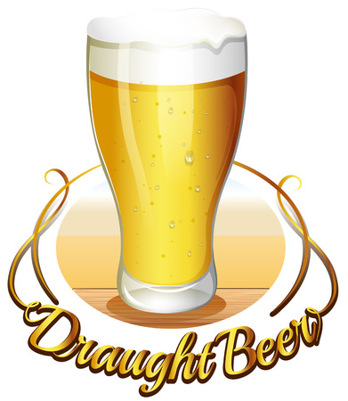 cold storage: Illustration of the draught beer label on a white background Illustration