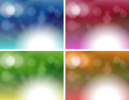 pinkish: Illustration of the four unique background templates on a white background
