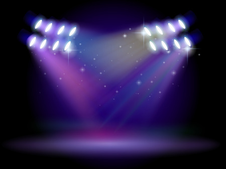 Illustration of an empty stage with lights Stock Vector - 25985640