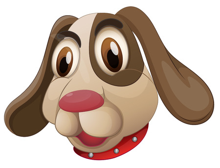 housepet: Illustration of a cute puppy on a white background Illustration