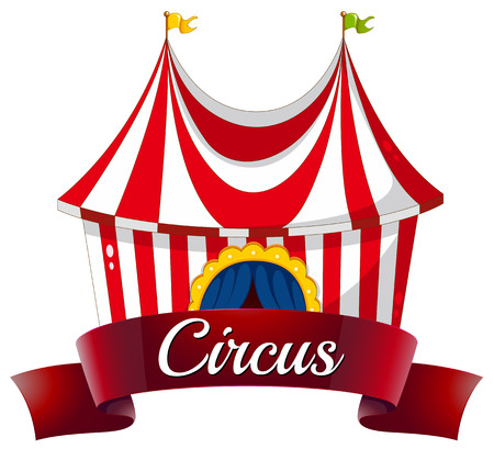 labelling: Illustration of a circus label on a white background