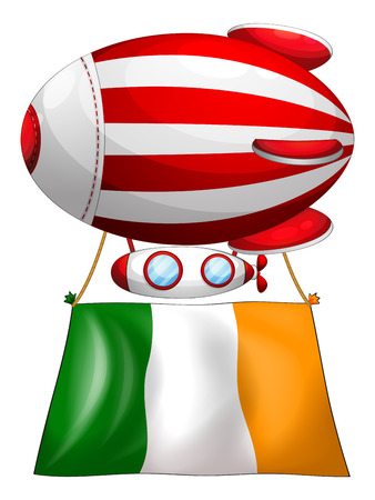 tricoloured: Illustration of a stripe-colored balloon with the flag of Ireland on a white background Illustration