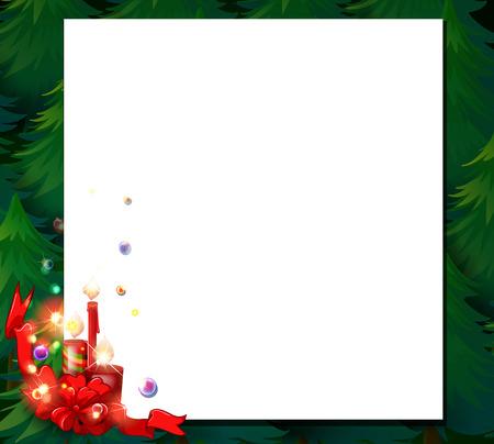 christmas menu: Illustration of an empty christmas card template