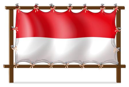 nailed: Illustration of the flag of Monaco on a white background