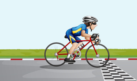 racing bicycle: Illustration of a male racer Illustration