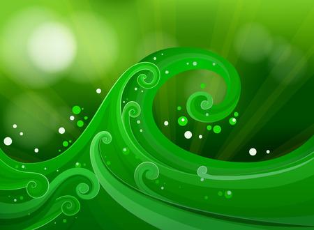 beautification: Illustration of a green gradient design Illustration