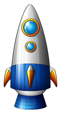 Illustration of a deadly rocket on a white  Vector