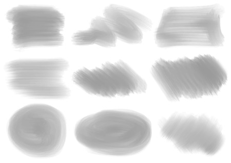 Illustration of the different textures and patterns on a white background Vector