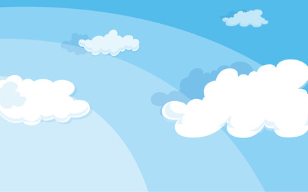 heavenly light: Illustration of the sky with clouds