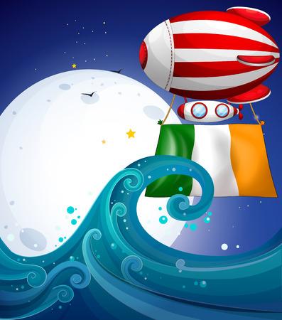 elliptic: Illustration of a balloon with the flag of Ireland Illustration