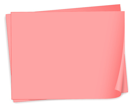sheet menu: Illustration of the empty pink bondpapers on a white background Illustration
