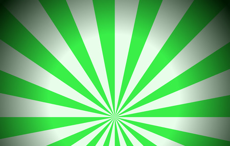 enhancement: Illustration of the green rays on a white background Illustration