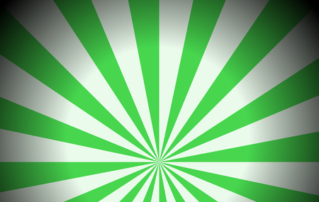 texturized: Illustration of the green colored rays on a white background