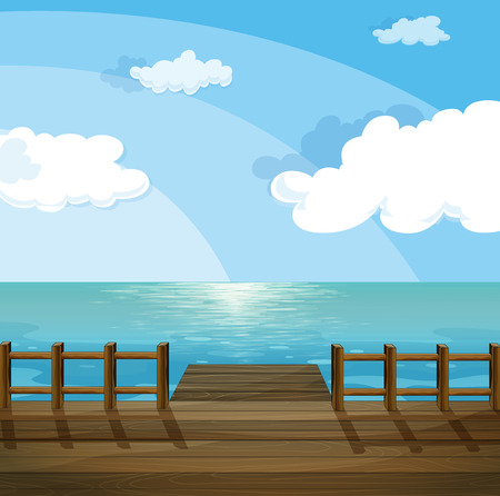 ocean view: Illustration of a view of the sea