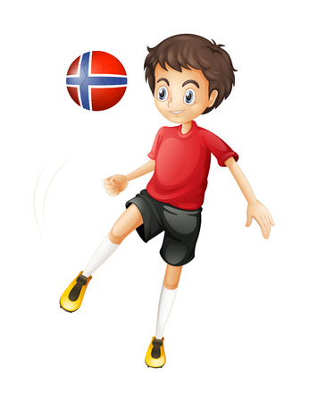 Illustration of a soccer player from Norway on a white background Illustration
