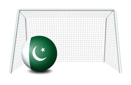 footwork: Illustration of a soccer ball from Pakistan on a white background