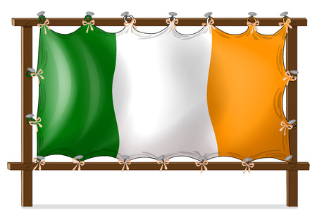 nailed: Illustration of a frame with the flag of Ireland on a white background