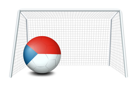 Illustration of a soccer ball with the CzechRepublic flag on a white background Vector