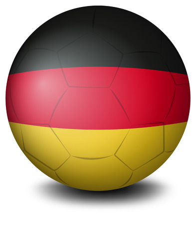 footwork: Illustration of a ball with the flag of Germany on a white background