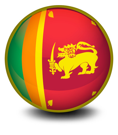 srilanka: Illustration of a ball with the flag of SriLanka on a white background