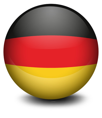 Illustration of a ball with the flag of Germany on a white background Vector