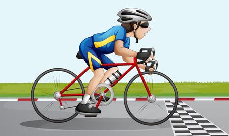 bicycle lane: Illustration of a bike racing Illustration