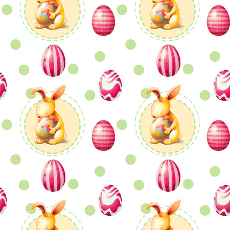 Illustration of a seamless Easter Sunday template Vector